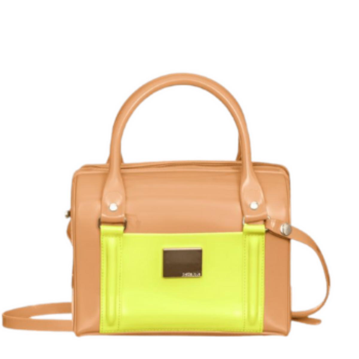 Bolsa Petite Jolie PJ10142 Lana New Camel / Amarelo Neon