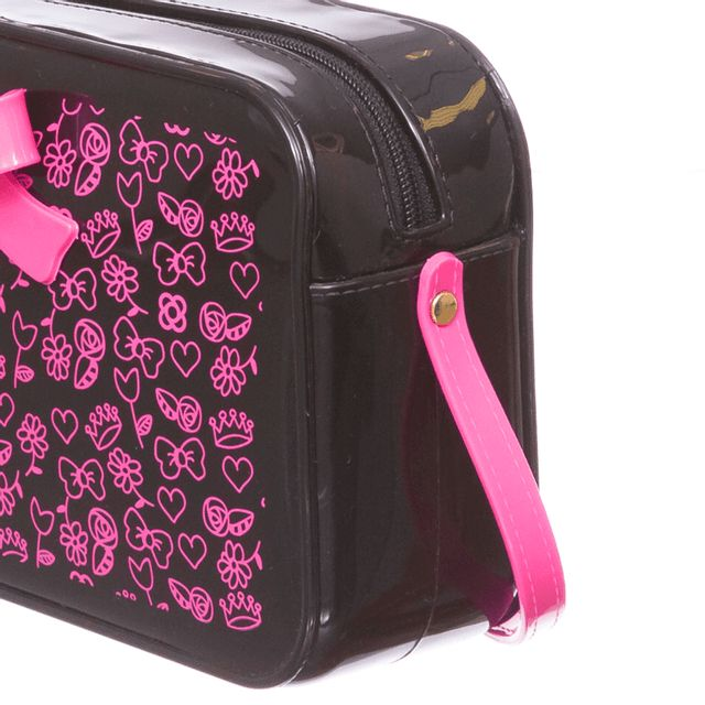 Bolsa Petite Jolie POP PJ10252IN Preto / Rosa Neon