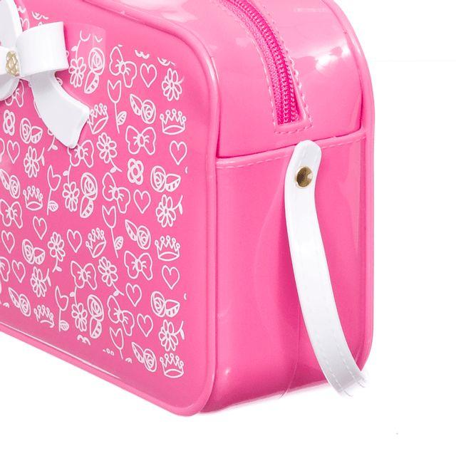 Bolsa Petite Jolie POP PJ10252IN Rosa Neon / Branco