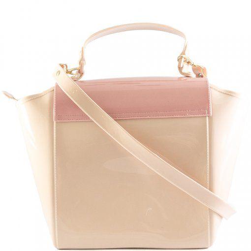 Bolsa Petite Jolie Shape Nude com Rosa PJ6019