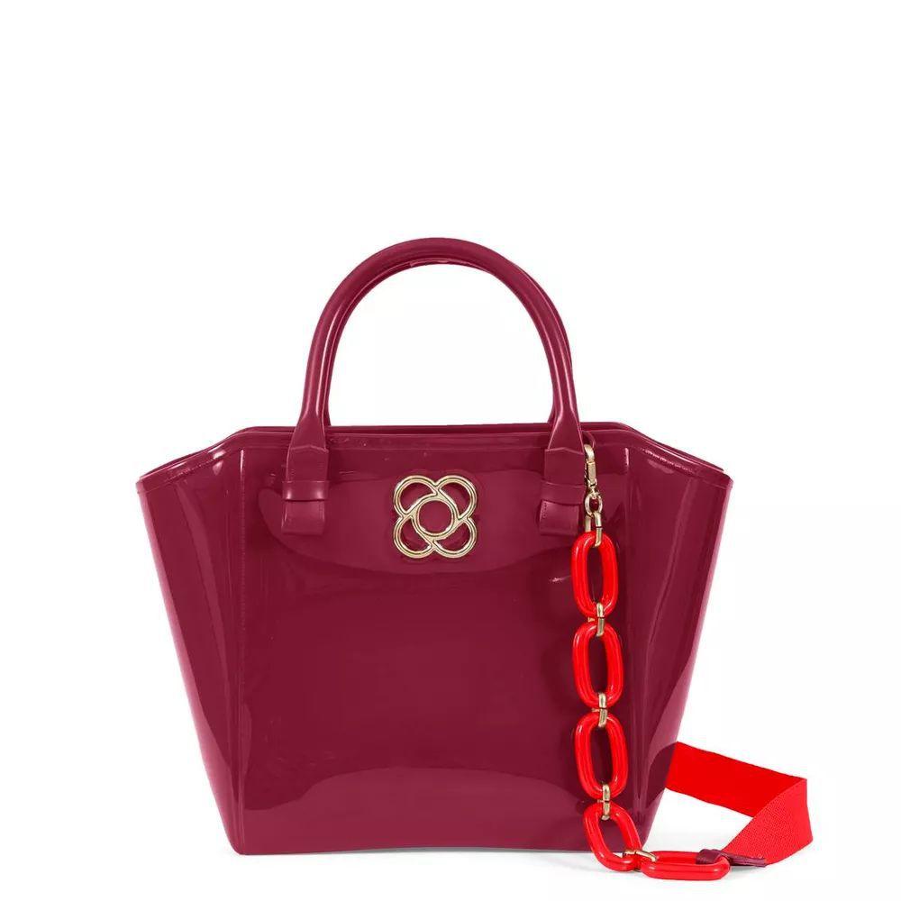 Bolsa Shape Bag Petite Jolie Pj3173 Bordo Plum Lux