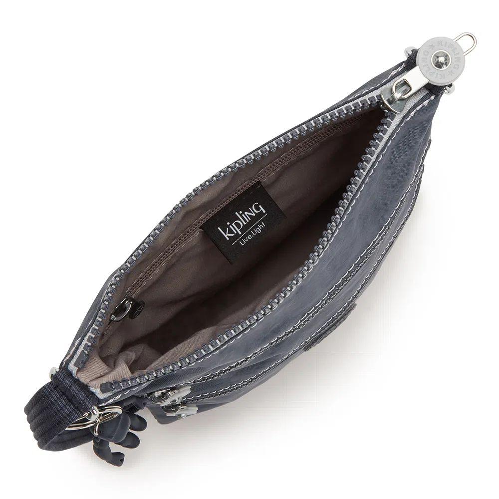 Bolsa Transversal pequena Kipling Keiko Grey Slate