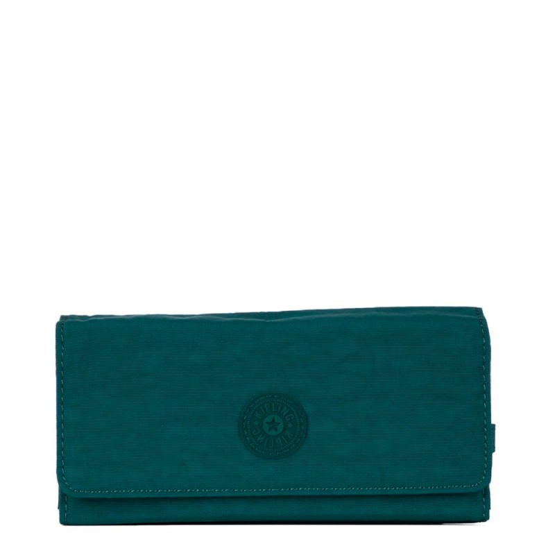 Carteira Grande Brownie Kipling Teal C