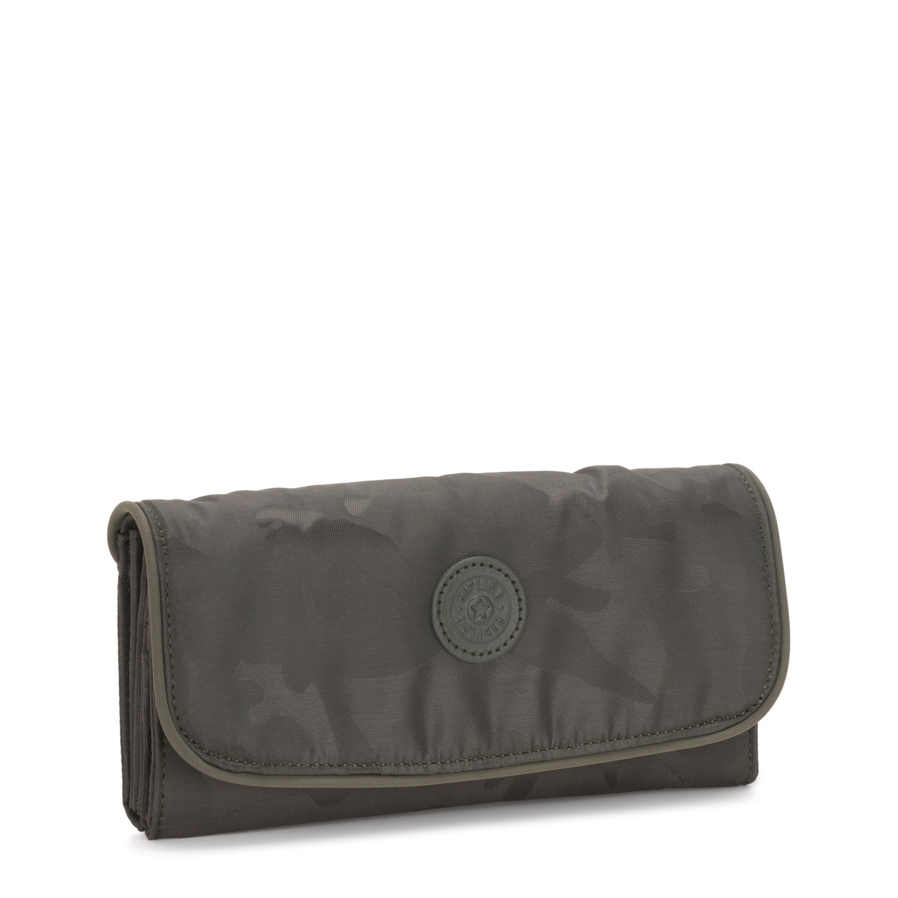 Carteira Grande Money Land Kipling Satin Camo