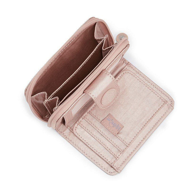 Carteira Kipling New Money Metallic Blush