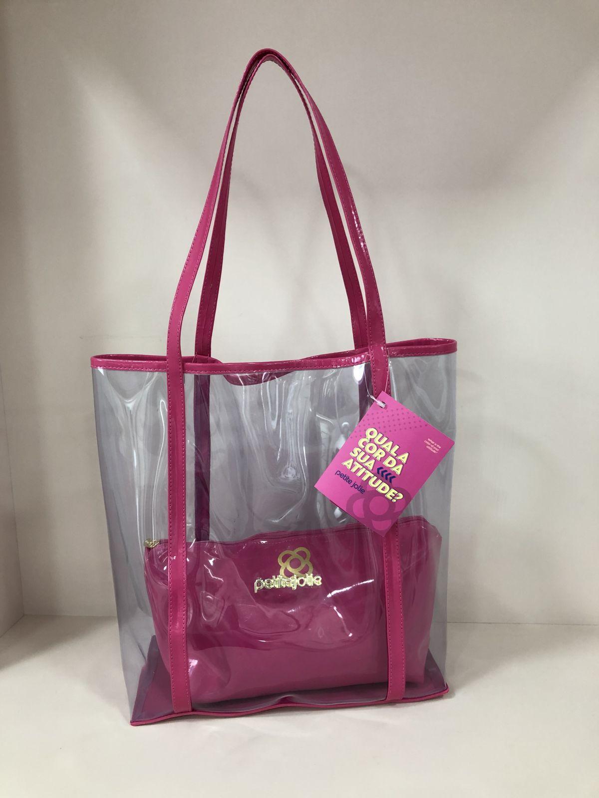 Bolsa de Praia com Necessaire Petite Jolie Piper PJ4053 Pink