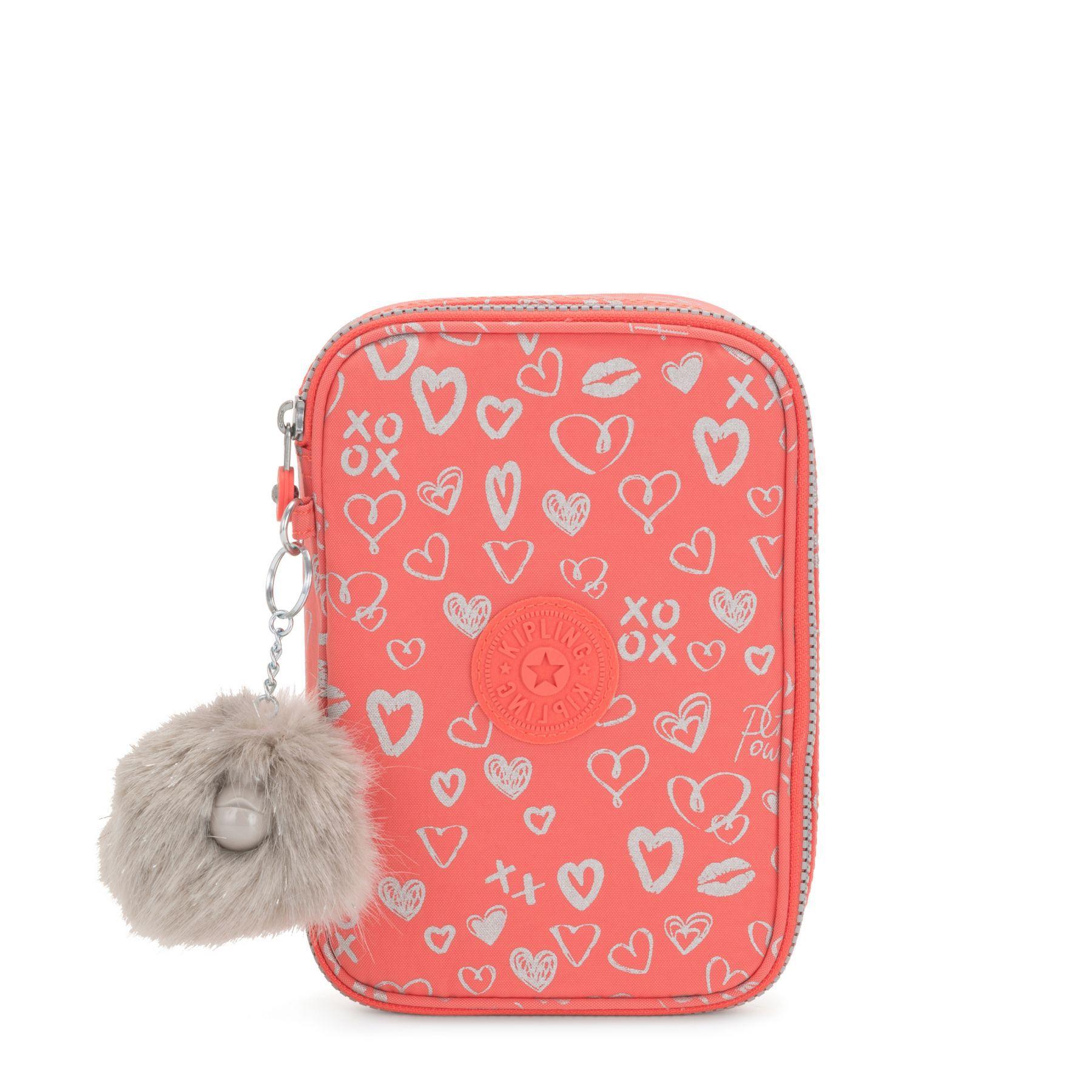Estojo Grande 100 Pens Kipling Hearty Pink Met