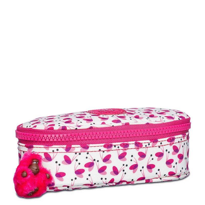 Estojo Médio Escolar Duobox Kipling Pink Wings