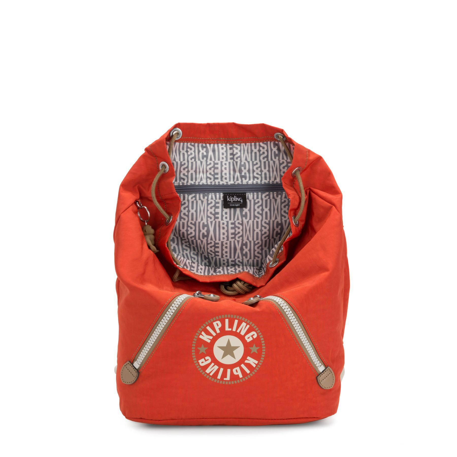 Mochila Básica Kipling Fundamental Funky Orange