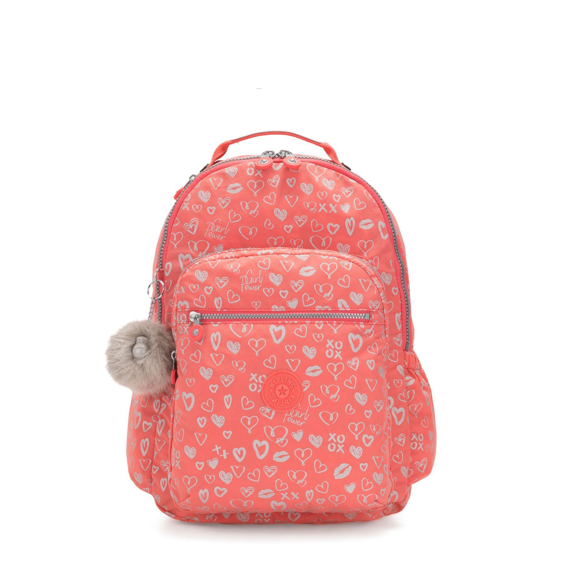 Mochila Clas Seoul Kipling Hearthy Pink