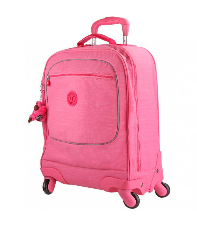 Mochila de Rodinhas Licia Kipling Fiesta Pink