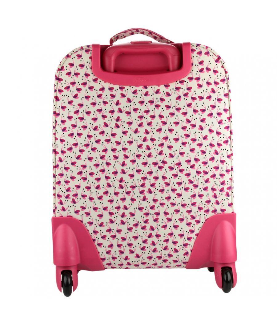Mochila de Rodinhas Licia Kipling Pink Wings