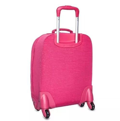 Mochila de Rodinhas Licia Kipling True Pink