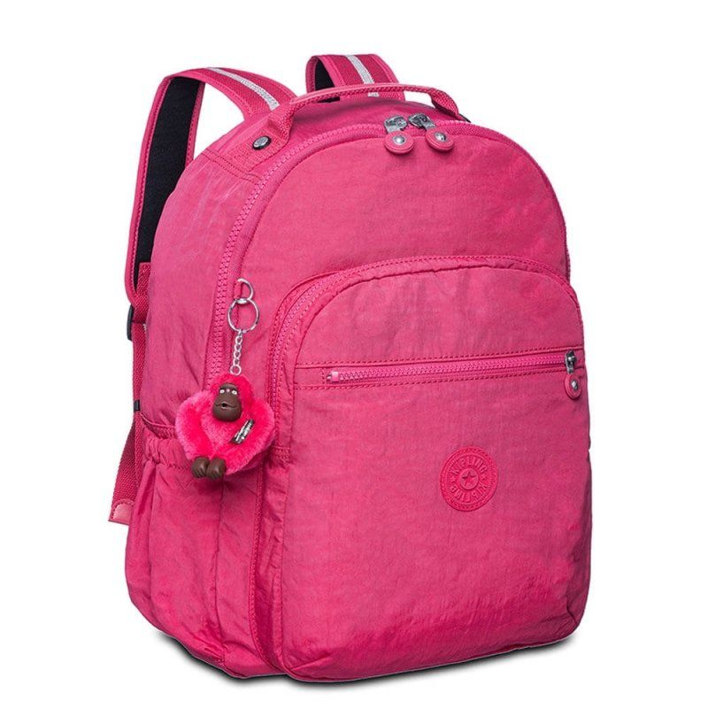 Mochila Escolar Seoul Up Kipling Cerise Pink