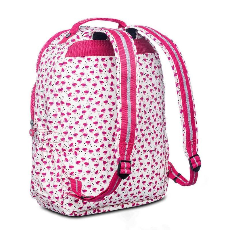 Mochila Escolar Seoul Up Kipling Pink Wings