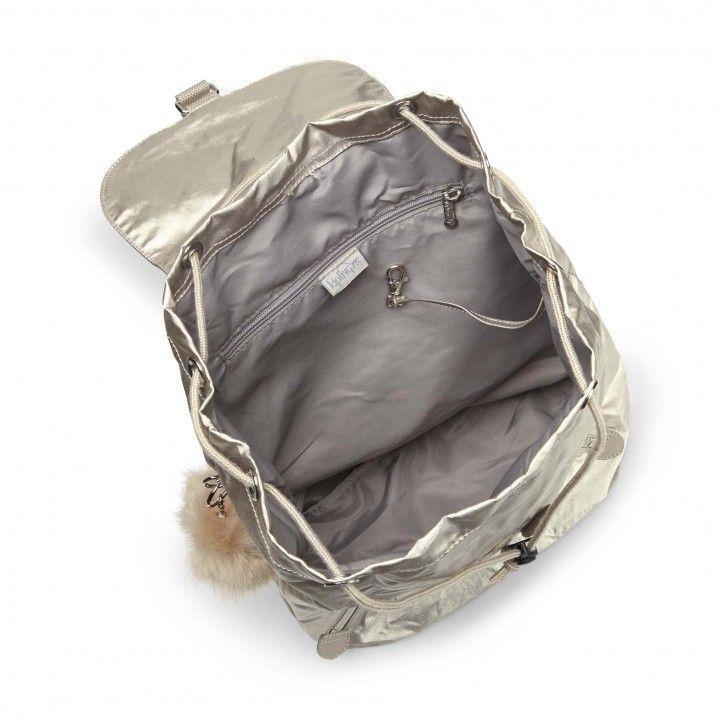 Mochila Fundamental Kipling Silver Beige ♥ New ♥
