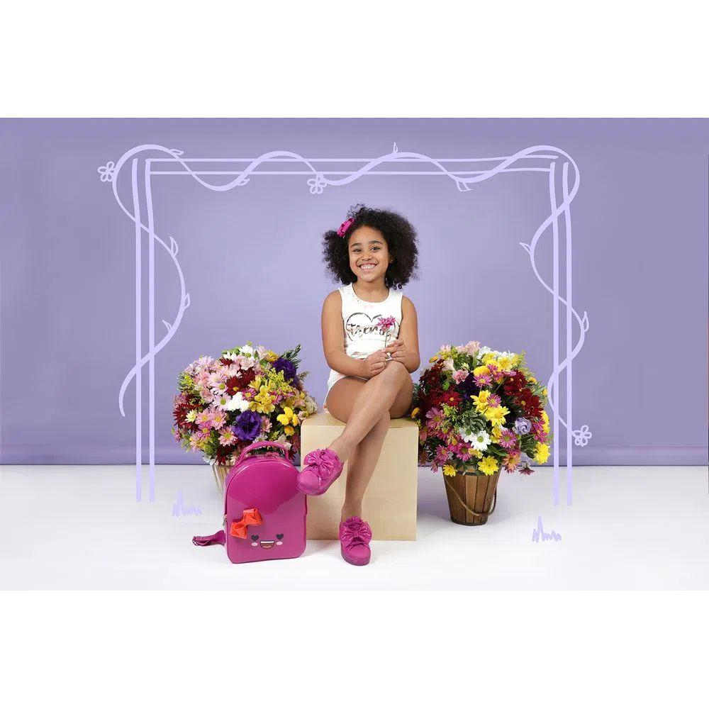 Mochila Infantil Petite Jolie Lizzy Pink Pitaya/Laranja PJ10010IN