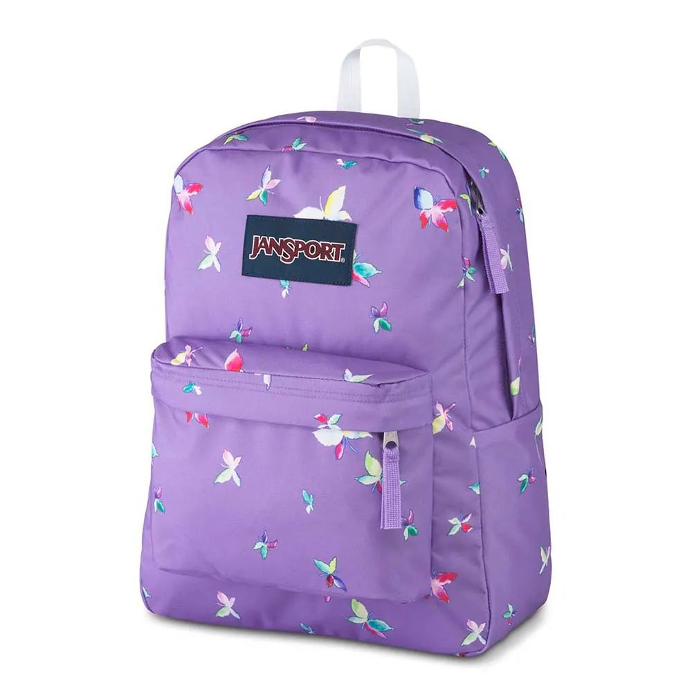 Mochila Jansport Superbreak Lilás Butterfly Kisses