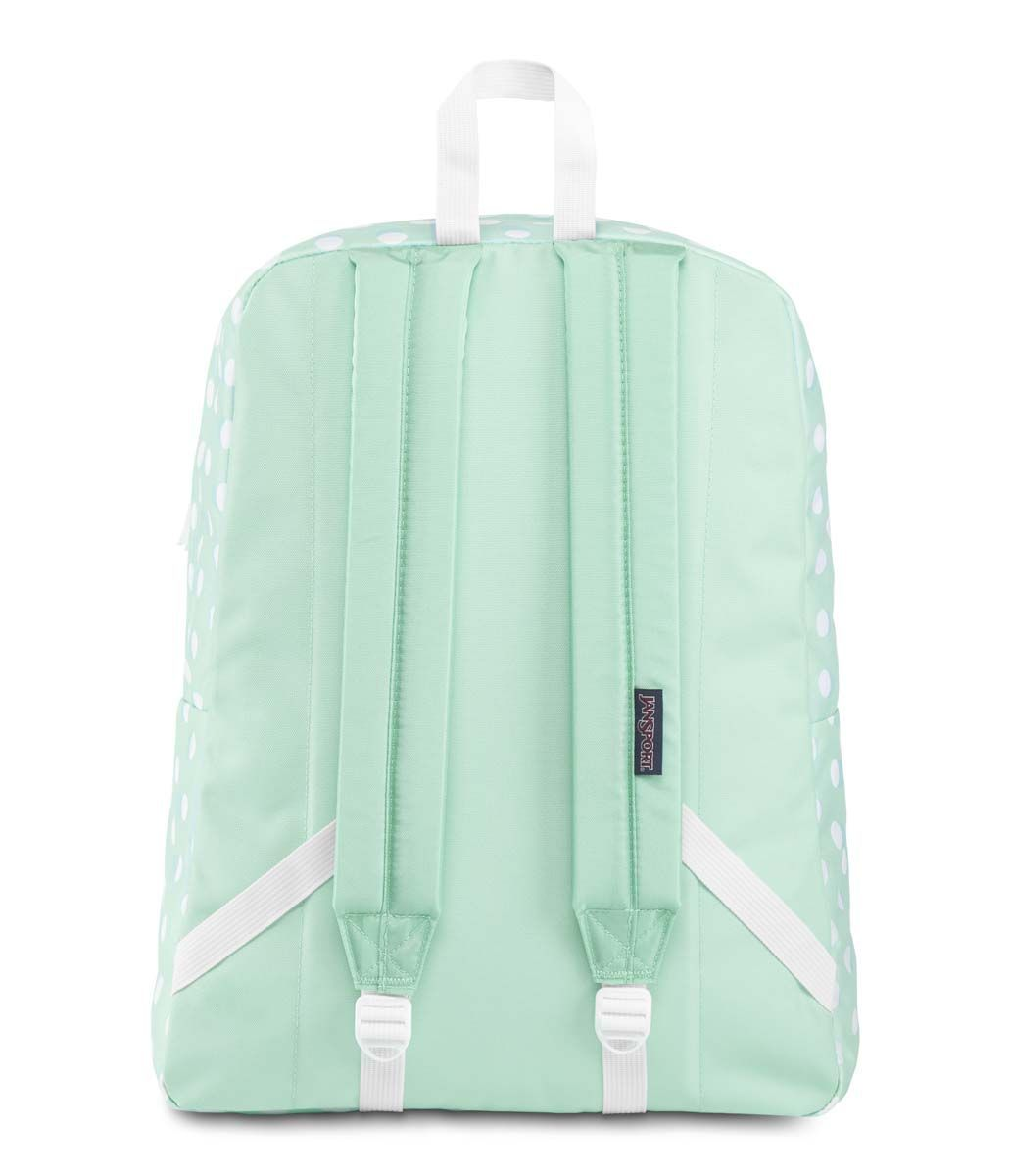 Mochila Jansport Superbreak Polka Dot Verde