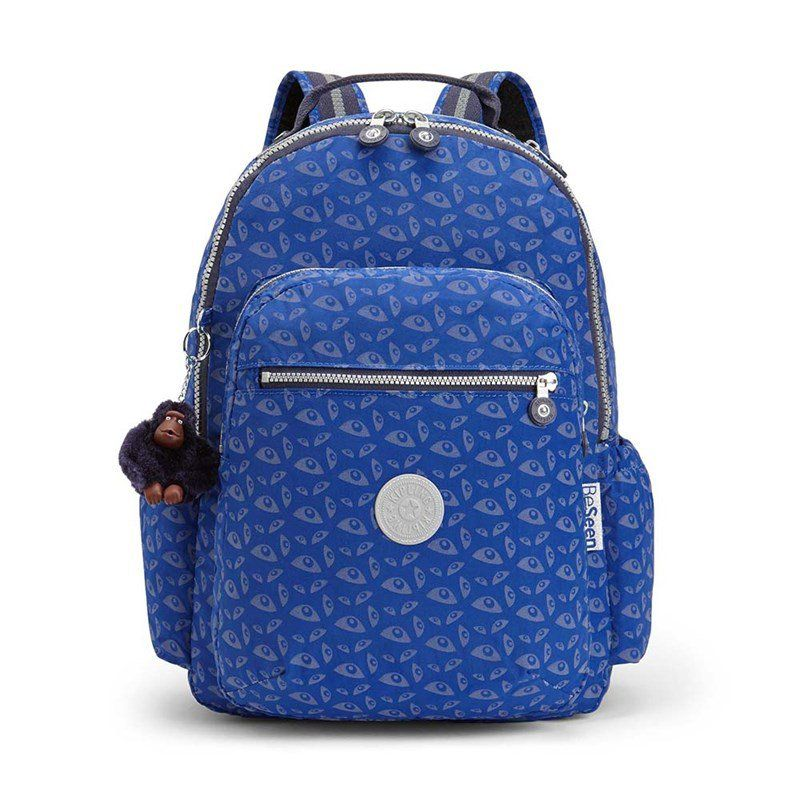 Mochila Kipling Seoul Go Better Estampa Bat Eye