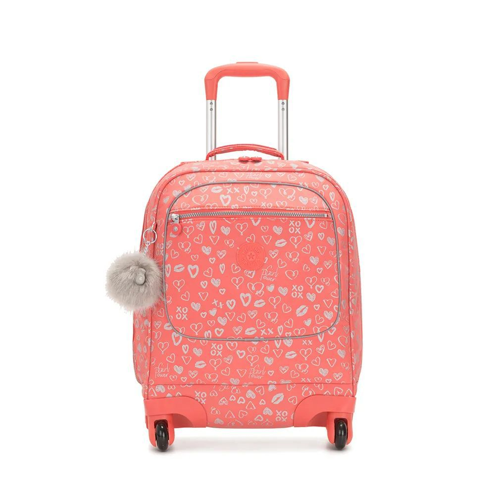 Mochila Licia 4 Rodinhas Kipling Hearthy Pink