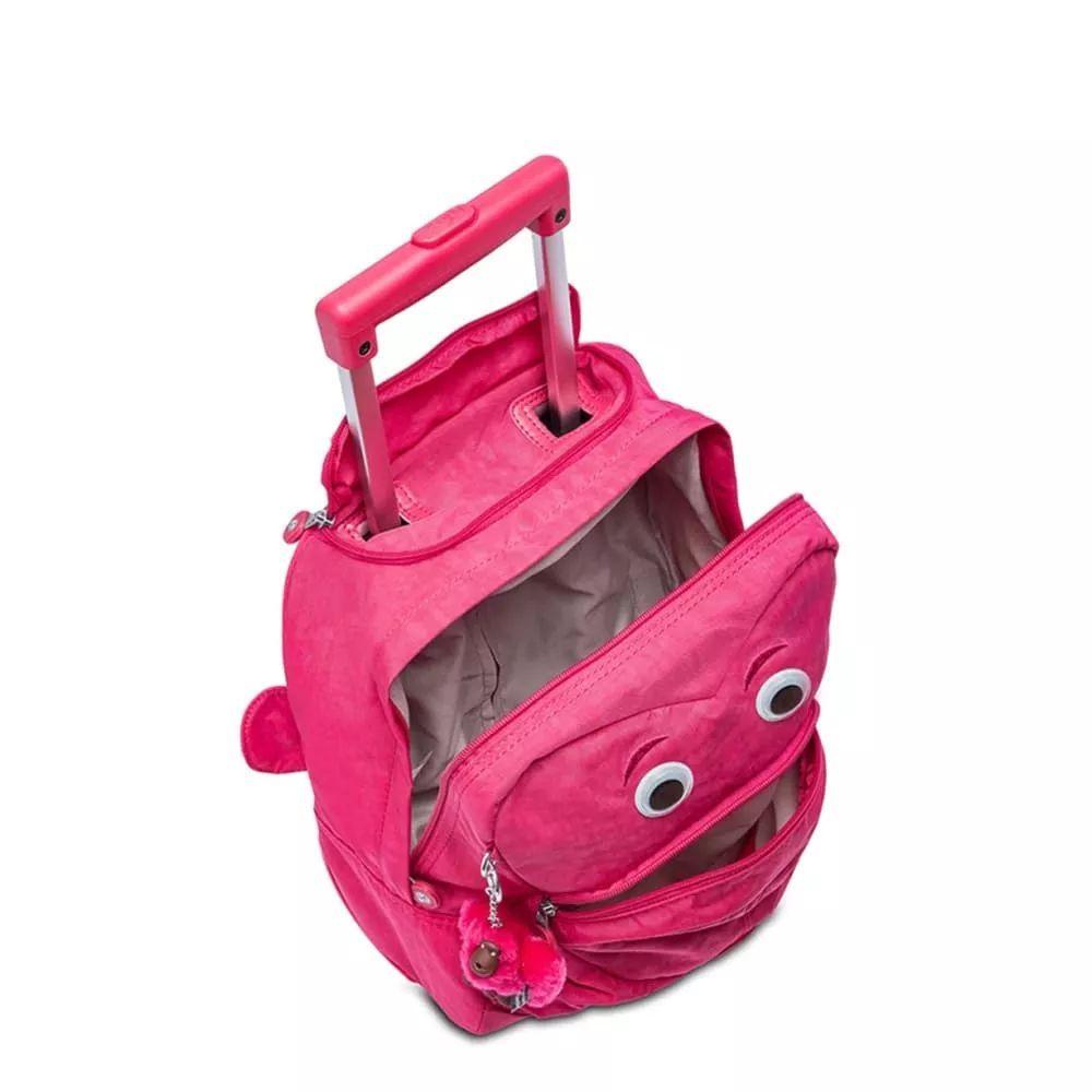 Mochila Pequena com Rodinhas Wheely Kipling Cerise Pink
