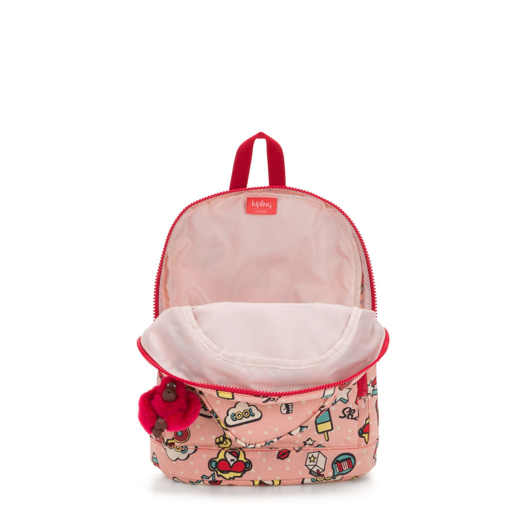Mochila Pequena Heart Backpack  Kipling Monkey Play
