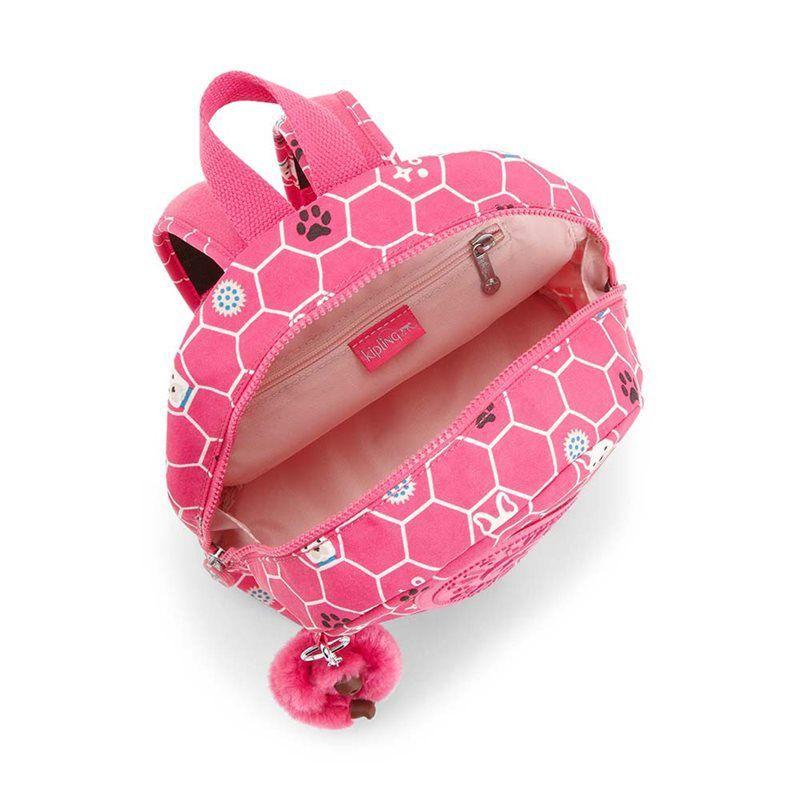 Mochila Pequena Infantil Sienna Kipling Pink Dog