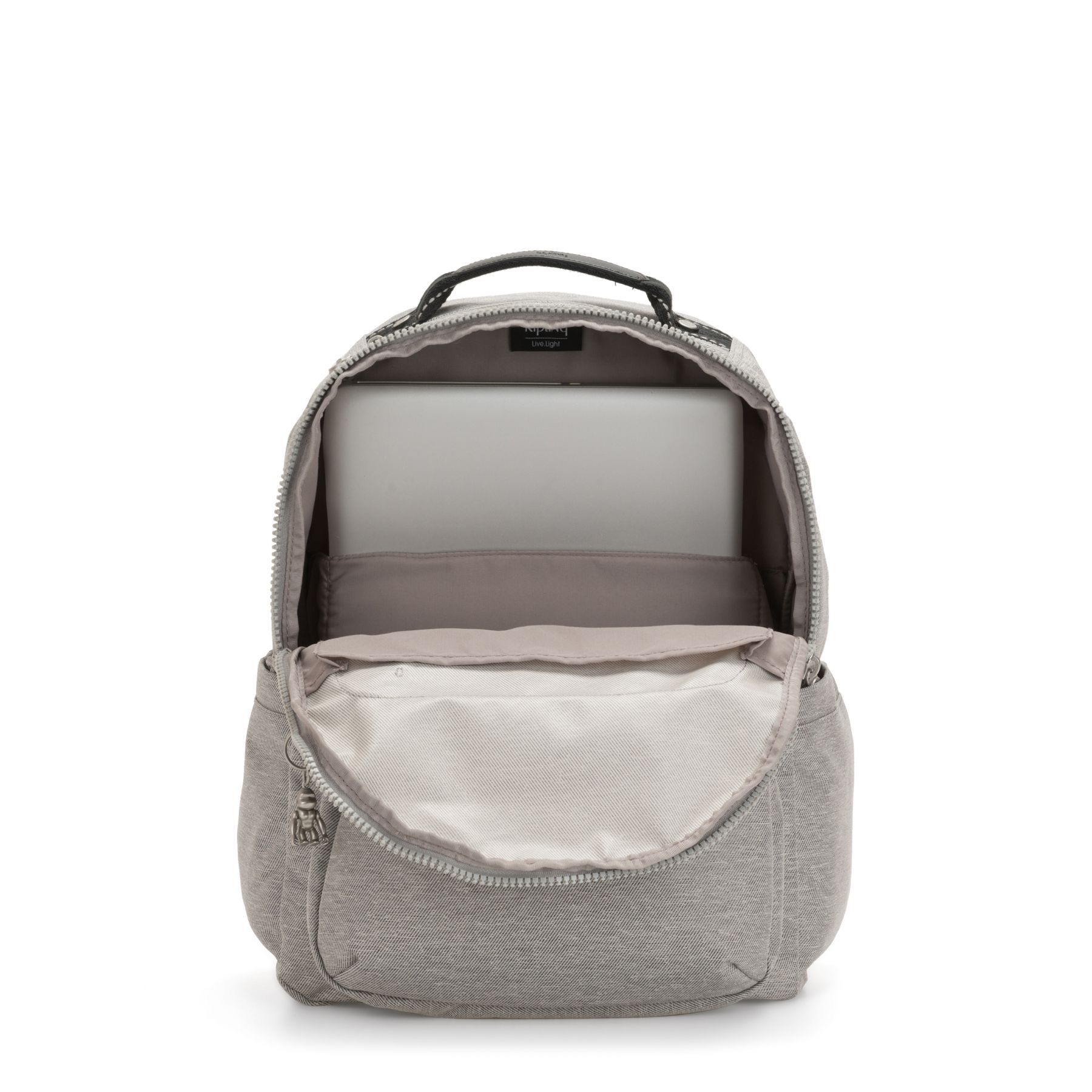 Mochila Seoul Kipling Chalk Grey