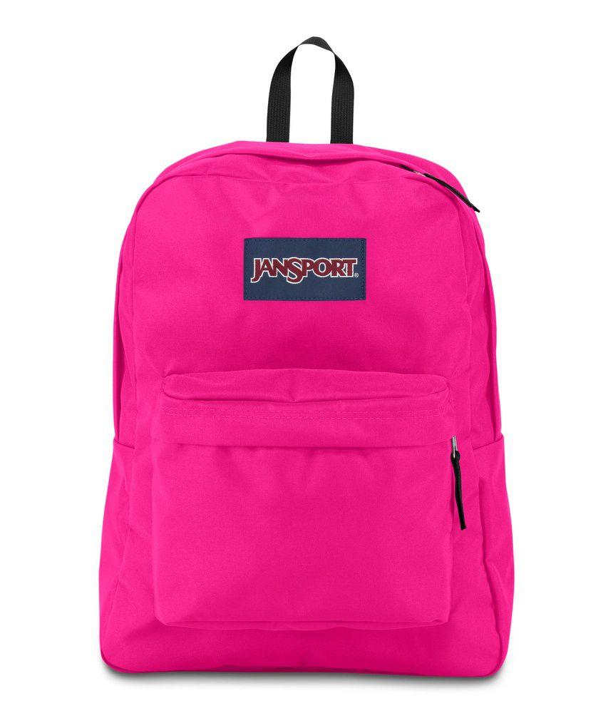 Mochila Superbreak Jansport Cyber Pink
