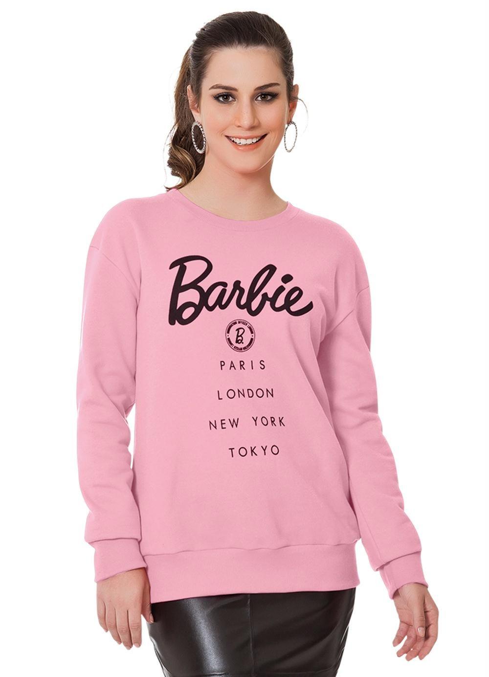 Moletom Rosa Barbie