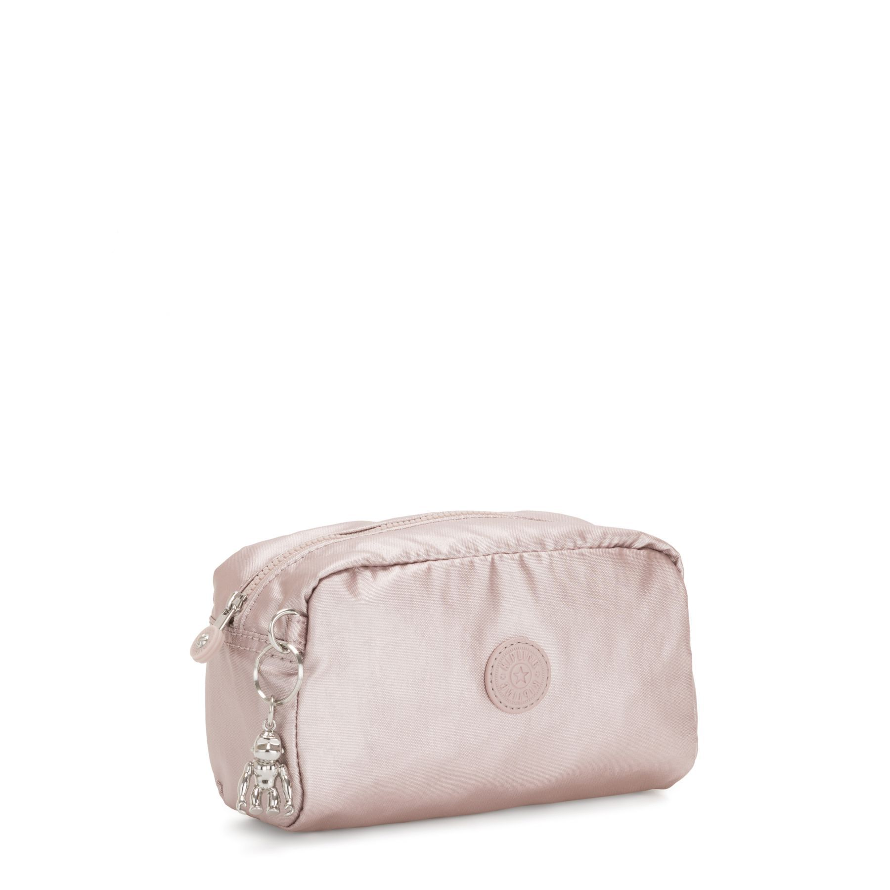 Necessaire Média Gleam Kipling Metallic Rose