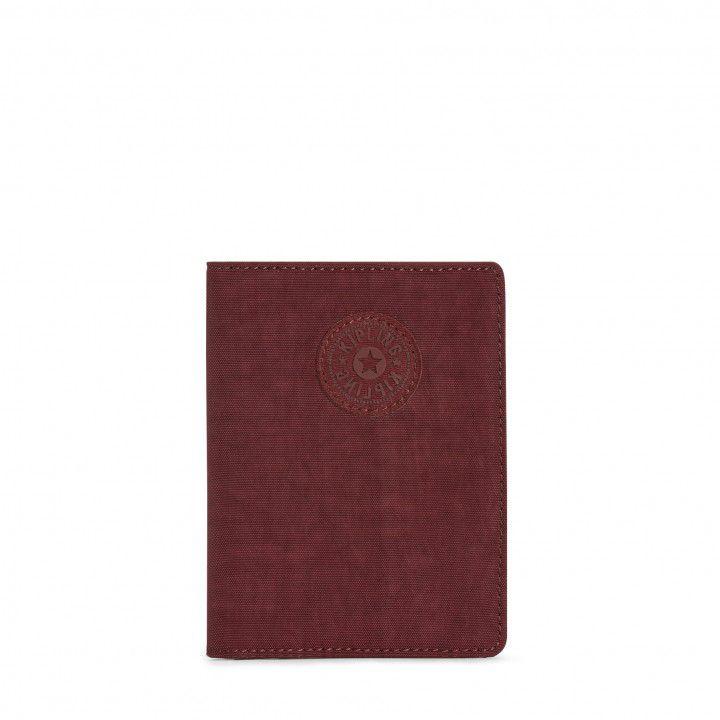 Porta Passaporte Kipling Burnt Carmine M