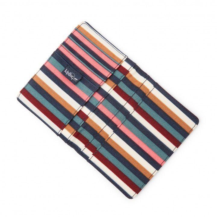 Porta Passaporte Kipling Multi Stripes