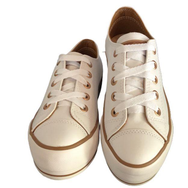 Tênis Feminino Capricho Plataforma Love Branco com cobre