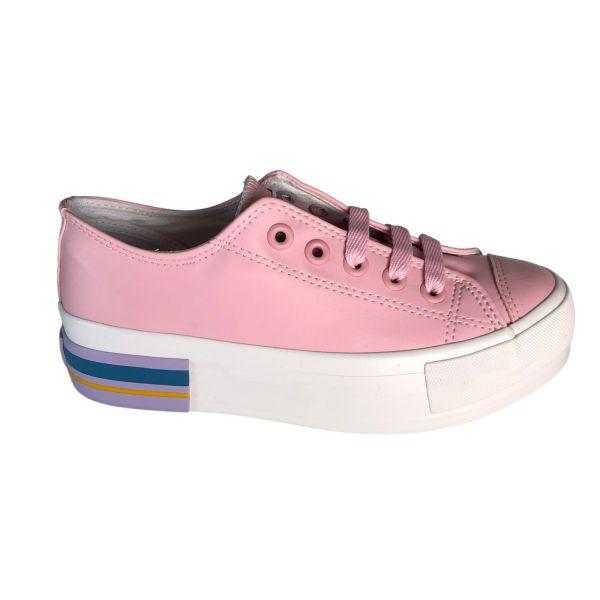 Tênis Feminino Class Plataform Colore Rosa