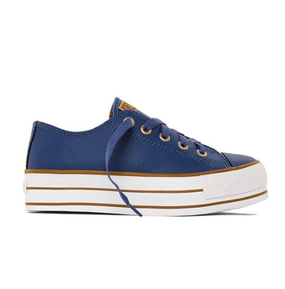 Tênis Feminino Likes Plataform Class Capricho Azul
