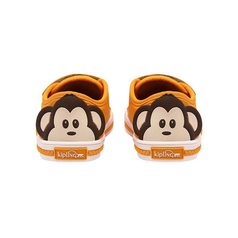 Tênis Velcro Infantil Kipling Macaco Amarelo 60396