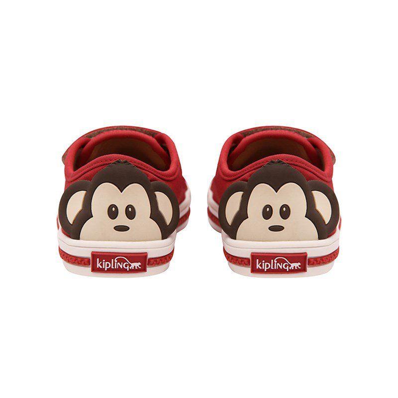 Tênis Velcro Infantil Kipling Macaco Vermelho 60396