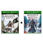 Combo Assassins Creed 4 Black Flag + Assassins Creed Rogue - Xbox One / Xbox 360