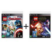 Combo Lego Marvel Vingadores + Lego Star Wars O despertar da Força - PS3