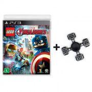 Combo Lego Marvel Vingadores - PS3 + Fidget Hand Spinner Martelo do Thor