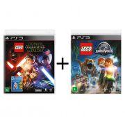 Combo Lego Star Wars O despertar da Força  + Lego Jurassic World - PS3