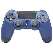 Controle Azul Noturno - PS4 - DualShock 4 ( C/ Led Frontal )