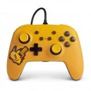 Controle Nintendo Switch Pokémon Pixel Pikachu - PowerA Com Fio