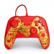Controle Nintendo Switch Super Mario Golden M - PowerA Com Fio