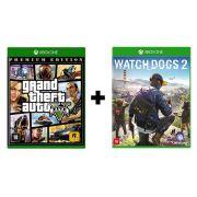 GTA 5 Premium Edition + Watch Dogs 2 - Xbox One