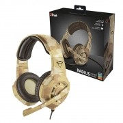 Headset Gamer Radius Desert Camo PS4 /PS5 /Xbox One /Switch /PC /Mobile- Trust GXT 310D