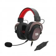Headset Gamer Redragon Zeus 2 Preto e Vermelho P2 Com Microfone PC e Consoles PS4 / Xbox One - H510-1