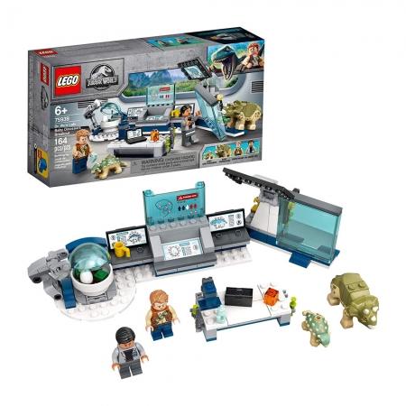 LEGO Jurassic World Laboratório do Dr WU A Fuga dos Dinossauros Bebês 75939 - 164 Peças